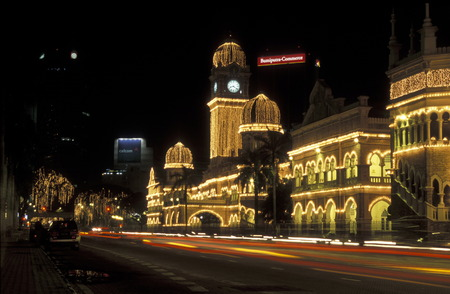 merdeka: The Sultan Abdul Samad Palace at the Merdeka Square  in the city of  Kuala Lumpur in Malaysia in southeastasia. Editorial