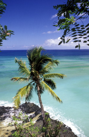 comores: the beach of the village Moya on the Island of Anjouan on the Comoros Ilands in the Indian Ocean in Africa.    Stock Photo