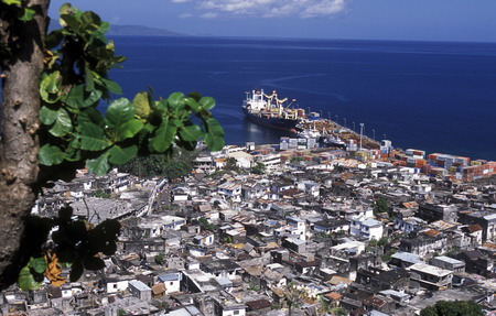 comores:  the city of Moutsamudu on the Island of Anjouan on the Comoros Ilands in the Indian Ocean in Africa.