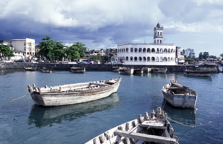 comoros: the mosque in the city of Moroni in the Island of  Comoros in the Indian Ocean in Africa    Stock Photo