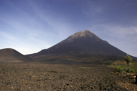 The Volcano Fogo on the Iceland Fogo Cape Verde on the Atlantic Ocean in in Africa. Editorial