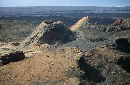 timanfaya: The  Vulkan National Park Timanfaya on the Island of Lanzarote on the Canary Islands of Spain in the Atlantic Ocean. on the Island of Lanzarote on the Canary Islands of Spain in the Atlantic Ocean.