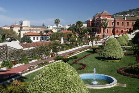 garten: The Victoria Garten in the Town of La Orotava on the Island of Tenerife on the Islands of Canary Islands of Spain in the Atlantic.