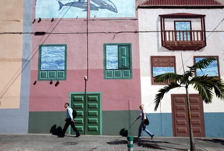 santa cruz de tenerife: The City of Santa Cruz de Tenerife on the Iceland of Tenerife on the Canary Islands of Islands of Spain in the Atlantic. Editorial