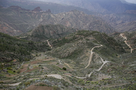 bartolome: The Landcape near the Village of  San Bartolome in the centre of the Canary Island of Spain in the Atlantic ocean. Stock Photo