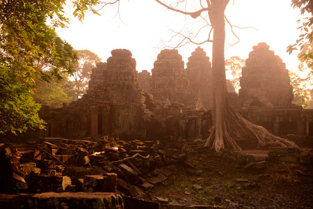 Reisen: The Temple of  Banteay Kdei in the Temple City of Angkor near the City of Siem Riep in the west of Cambodia. Editorial