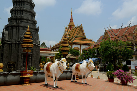 bo: The Wat Bo Temple in the City centre of Siem Riep neat the Ankro Wat Temples in the west of Cambodia.