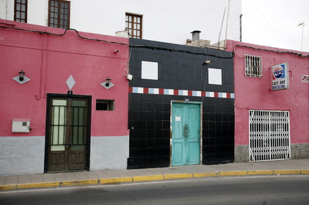 大西洋のスペインのカナリア島に島のフェルテベントゥラ島の都市プエルト ・ デル ・ ロザリオ。 写真素材 - 32157187