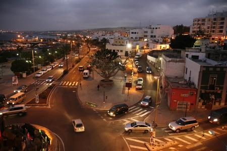大西洋のスペインのカナリア島に島のフェルテベントゥラ島の都市プエルト ・ デル ・ ロザリオ。 写真素材 - 32157188