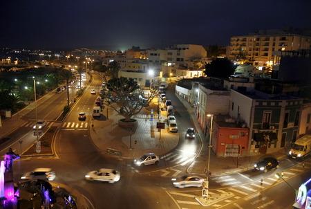 大西洋のスペインのカナリア島に島のフェルテベントゥラ島の都市プエルト ・ デル ・ ロザリオ。 写真素材 - 32157195