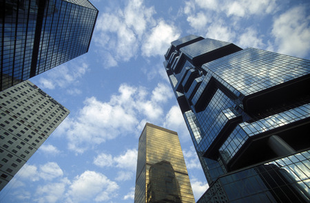 archtecture: the skyline in central Hong Kong in the south of China in Asia.