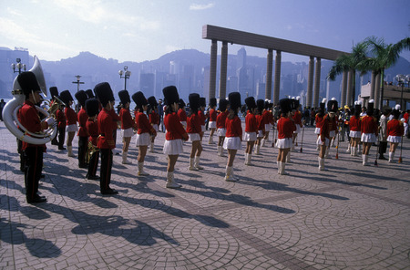 musik: a Brithish Music at the Chinese newyear in Hong Kong in the south of China in Asia.