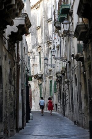 italien: the old Town of Siracusa in Sicily in south Italy in Europe.