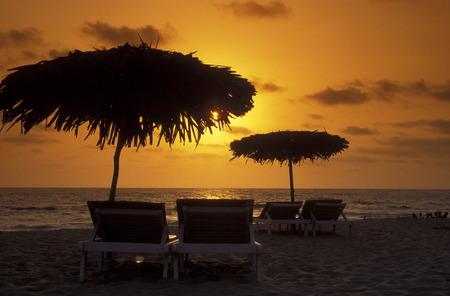 ferien: the beach of Anjuna in the Province Goa in India.