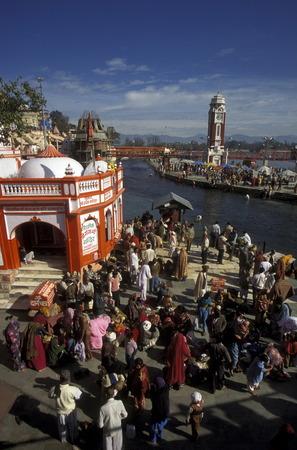 uttar pradesh: the Ganges River in the town of Hardwar in the Province Uttar Pradesh in India.