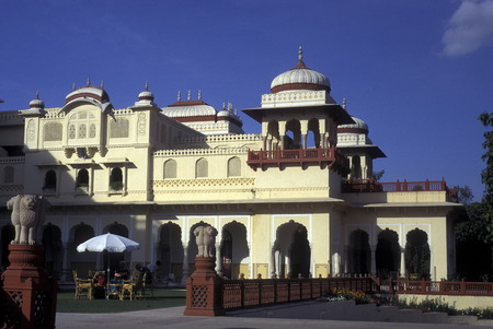 the Palace Hotel Rambagh at the city of Jaipur in the province Rajasthan in India. Editorial