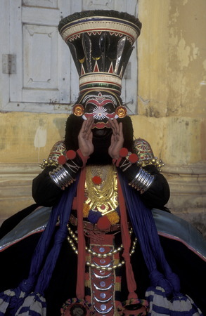 kathakali: The  Kathakali Dancer in the city of Kochi in the province Kerala in India. Editorial