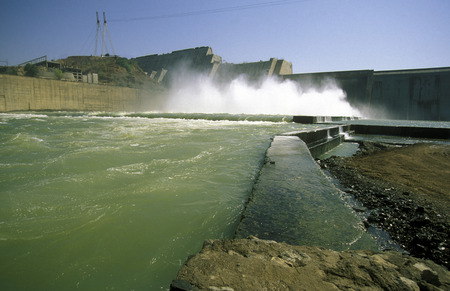 projekt: The River Waterpower Dam Project of Sardar Sarovar in the Province Gujarat in India.
