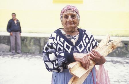 america centrale: una donna del villaggio di Gracias in Honduras in America Centrale,