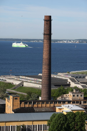 industrie: the Old Industy architecture near the old city of Tallinn in Estonia in the Baltic countrys in Europe.