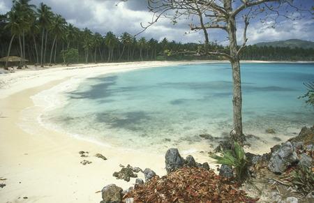 republik: Die Strandlandschaft bei Las Terrenas auf der Halbinsel Samana an der Karibik in der Dominikanische Republik.  (KEYSTONEUrs Flueeler)