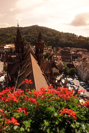 freiburg: the old town of Freiburg im Breisgau in the Blackforest in the south of Germany in Europe. Stock Photo