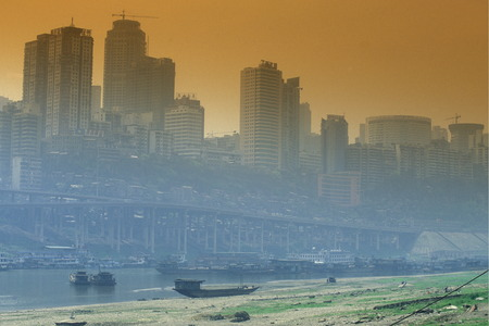 archtecture: the city of Chongqing in the province of Sichuan in China in east asia. Editorial