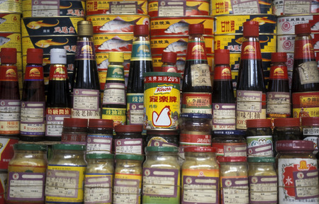 knorr: the Market in the city of Canton or Guangzhou in the north of Hong Kong in the province of Guangdong in China in east asia.