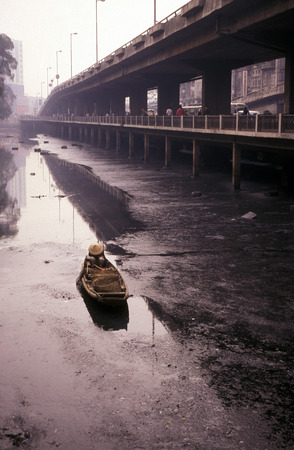 canto: a river in the city of Canton or Guangzhou in the north of Hong Kong in the province of Guangdong in China in east asia. Editorial