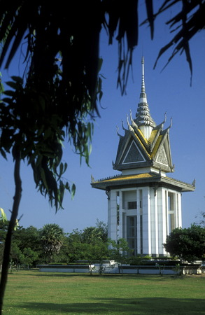 killing: the museum of the killing fields of the Khmer Rouge outside of the city of phnom penh cambodia in in Southeastasia.