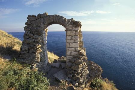 balchik: the Cape Kaliakra on the blacksea coast near the town of Balchik in Bulgaria in east Europe.