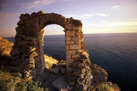 the Cape Kaliakra on the blacksea coast near the town of Balchik in Bulgaria in east Europe.