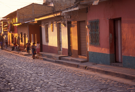 antigua: the old town in the city of Antigua in Guatemala in central America. Editorial