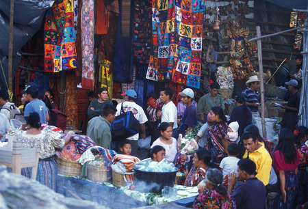 indios: the Market in the Village of  Chichi or Chichicastenango in Guatemala in central America.