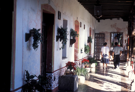 the old town in the city of Antigua in Guatemala in central America.