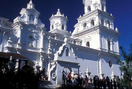 中米のグァテマラのエスキプラスの町の教会。