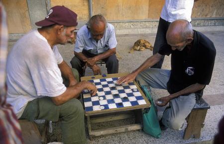 spiel: people play geams in the city of Santiago de Cuba on Cuba in the caribbean sea.