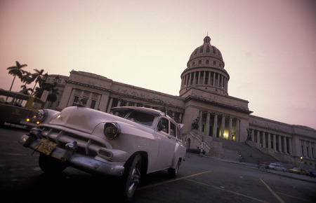 habana: the capitolio National in the city of Havana on Cuba in the caribbean sea. Editorial