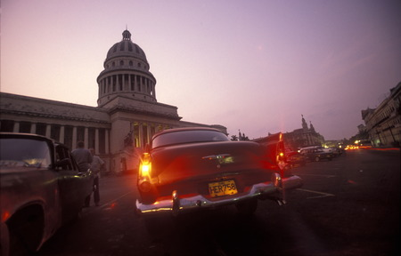 the capitolio National in the city of Havana on Cuba in the caribbean sea.