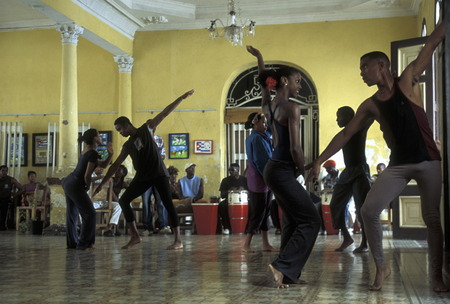 a Salsa Dance school in the city centre in the city of Santiago de Cuba on Cuba in the caribbean sea. Editorial