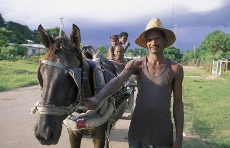 holguin: a Farmer near the city of Holguin on Cuba in the caribbean sea.