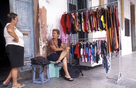 privat: a privat market shop in the city of Havana on Cuba in the caribbean sea.