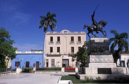 カリブ海のキューバ カマグエイの古い町のパルケ ・ イグナシオ ・ アグラモンテ。