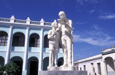 ignacio: the Parque Ignacio Agramonte in the old town of Camaguey on Cuba in the caribbean sea.