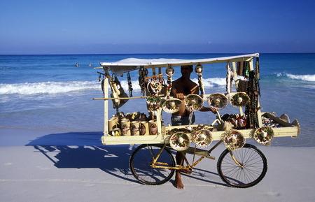 a beach on the coast of Varadero on Cuba in the caribbean sea.