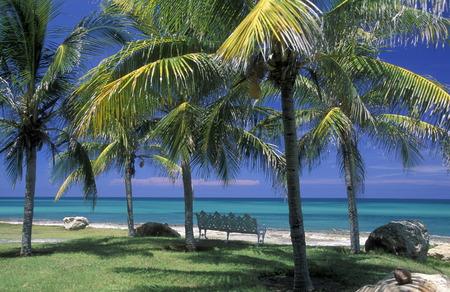 meer: a beach on the coast of Varadero on Cuba in the caribbean sea.