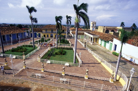 city centre: the city centre in the old Town of the Village of trinidad on Cuba in the caribbean sea.