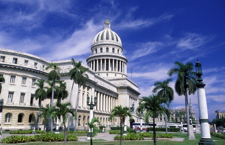 capitolio: the capitolio National in the city of Havana on Cuba in the caribbean sea. Editorial