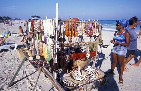 a beach on the coast of Varadero on Cuba in the caribbean sea. Editorial