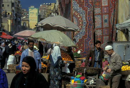 afrika: the old town of the city of cairo in Egypt in North Africa. Editorial